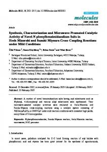 Synthesis, Characterization and Microwave-Promoted ... - CiteSeerX