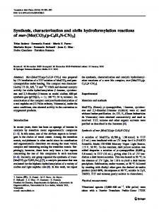 Synthesis, characterization and olefin hydroformylation ... - Springer Link