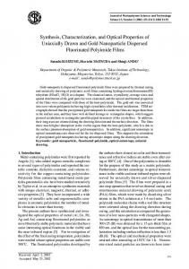 Synthesis, Characterization, and Optical Properties of ... - CiteSeerX