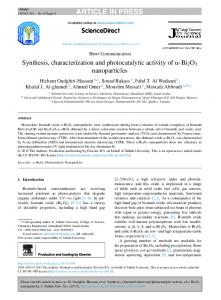 Synthesis, characterization and photocatalytic activity
