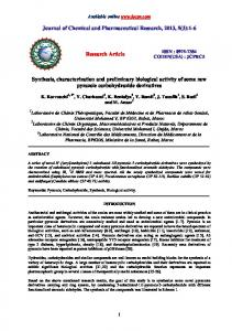 Synthesis, characterization and preliminary biological activity of some