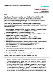 Synthesis, Characterization and Study of Liquid
