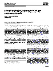 Synthesis, characterization, antibacterial activity and