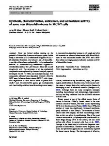 Synthesis, characterization, anticancer, and antioxidant activity of ...