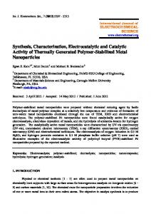 Synthesis, Characterization, Electrocatalytic and Catalytic Activity of ...
