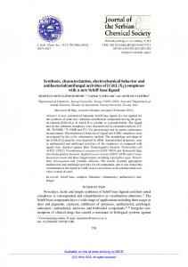 Synthesis, characterization, electrochemical behavior and ... - doiSerbia
