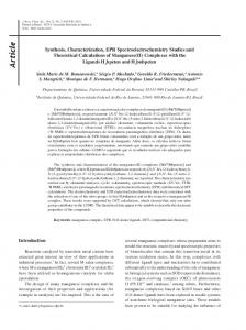 Synthesis, characterization, EPR spectroelectrochemistry studies and