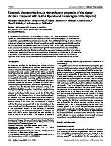 Synthesis, characterization, in vivo antitumor