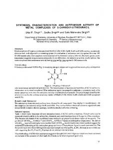 SYNTHESIS, CHARACTERIZATION METAL COMPLEXES ... - Hindawi