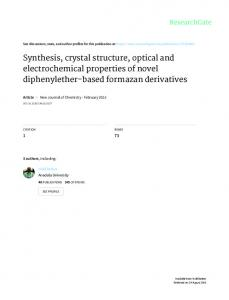 Synthesis, crystal structure, optical and