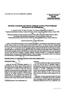 synthesis, cytotoxicity and calcium antagonist activity ...