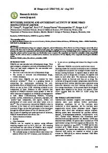 synthesis, docking and antioxidant activity of some nsaid derivatives of ...