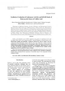 Synthesis, Evaluation of Anticancer Activity and ... - BioMedSearch