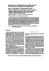 Synthesis, in vitro Antiproliferative and Anti-HIV Activity of New