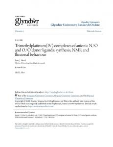 synthesis, NMR and fluxional behaviour - Core