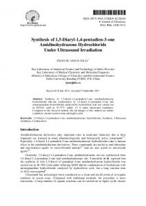 Synthesis of 1,5-Diaryl-1,4-pentadien-3-one ... - Hindawi