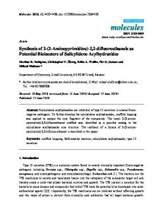 Synthesis of 2-(2-Aminopyrimidine)-2, 2-difluoroethanols as Potential ...