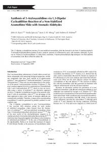 Synthesis of 5-Aryloxazolidines via 1,3-Dipolar ... - CSIRO Publishing