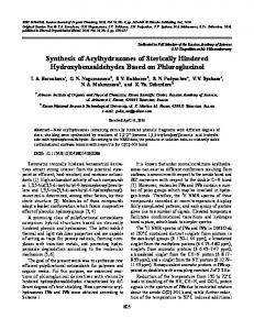 Synthesis of Acylhydrazones of Sterically Hindered ... - Springer Link