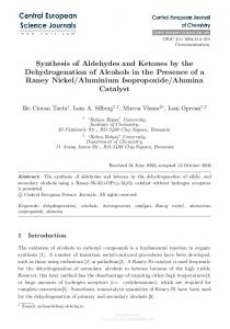 Synthesis of Aldehydes and Ketones by the