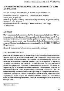 synThesis of benzamidomeThyl derivaTives of some
