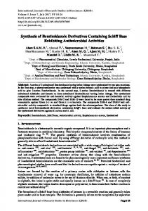 Synthesis of Benzimidazole Derivatives Containing ...