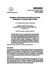 Synthesis of Benzofuran Derivatives and their ...