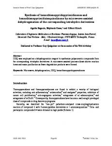 Synthesis of benzothienopyridopyrimidinones and ... - Arkivoc