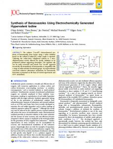 Synthesis of Benzoxazoles Using ... - ACS Publications