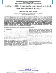 Synthesis of Bis-Heterocyclic Compounds and Study