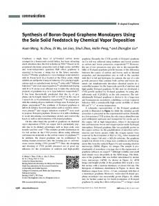 Synthesis of BoronDoped Graphene ... - Wiley Online Library