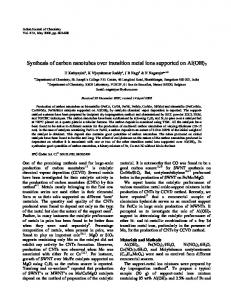 Synthesis of carbon nanotubes over transition metal ions ... - NOPR