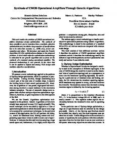 Synthesis of CMOS Operational Amplifiers Through ... - CiteSeerX