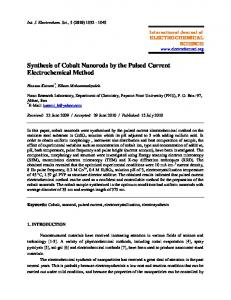 Synthesis of Cobalt Nanorods by the Pulsed Current Electrochemical