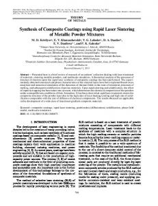 Synthesis of Composite Coatings using Rapid Laser ... - Springer Link