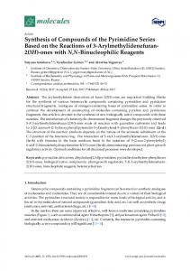 Synthesis of Compounds of the Pyrimidine Series Based on ... - MDPI
