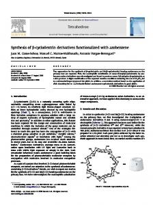 Synthesis of β-cyclodextrin derivatives functionalized ...