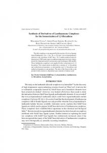 Synthesis of Derivatives of Lanthanocene Complexes