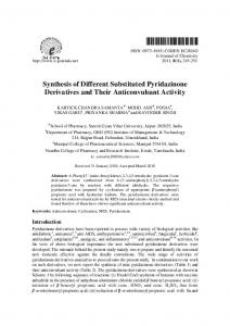 Synthesis of Different Substituted Pyridazinone Derivatives ... - Hindawi