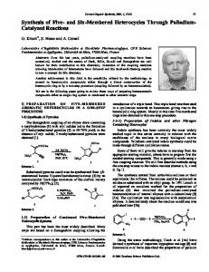 Synthesis of Five- and Six-Membered Heterocycles ... - Ingenta Connect