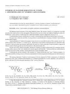 synthesis of flavonoid derivatives of cytisine. 1 ... - Springer Link