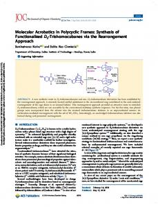 Synthesis of Functionalized D3-Trishomocubanes via ...