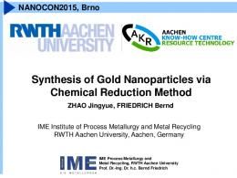 Synthesis of Gold Nanoparticles via Chemical