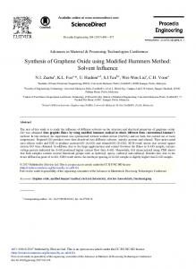 Synthesis of Graphene Oxide using Modified ... - ScienceDirect.com