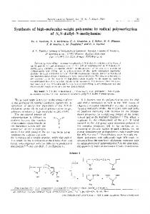 Synthesis of high-molecular-weight polyamine by radical ...