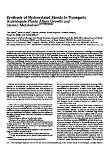 Synthesis of Hydroxylated Sterols in Transgenic ... - Plant Physiology