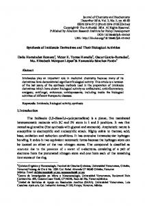 Synthesis of Imidazole Derivatives and Their Biological Activities Delia