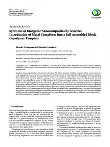 Synthesis of Inorganic Nanocomposites by Selective Introduction of
