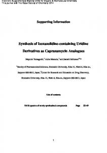 Synthesis of Isoxazolidine-containing Uridine Derivatives as ...