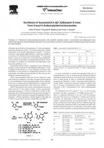 Synthesis of isoxazolo [4, 5-e][1, 4] diazepin-5-ones from 5-acyl-4